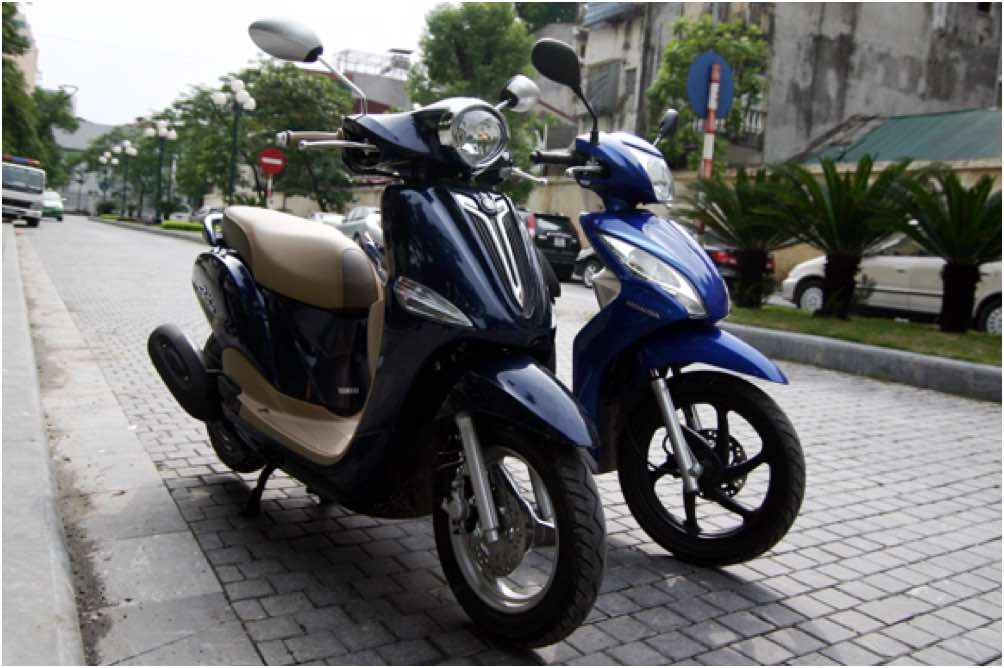 So sánh Honda Vision vs Yamaha Nozza 2016