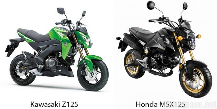 n n mua kawasaki z125 2017 hay honda msx 125 2017 xe n o. Black Bedroom Furniture Sets. Home Design Ideas
