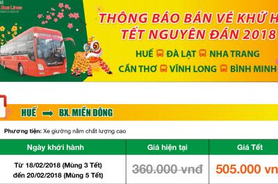 Bảng giá vé tết 2019 xe Phương Trang mới nhất hôm nay – 10/4/2021